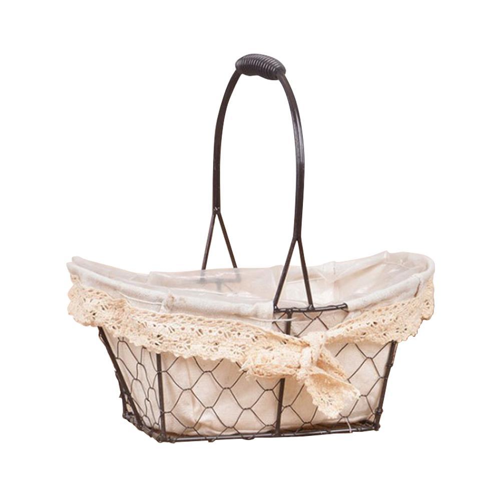Vintage Bamboo Woven Tea Storage Basket Green Plant Succulent Flower Pot Basket
