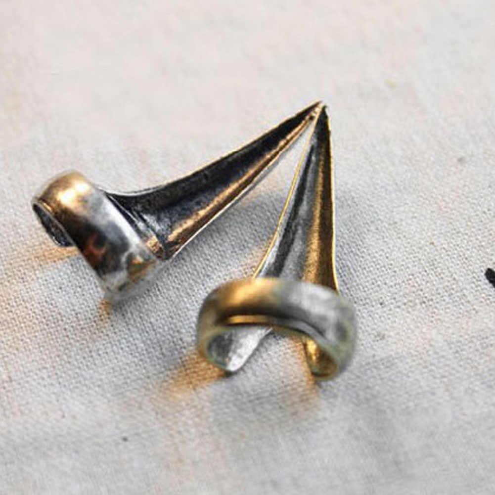 Talon pazur palec Spike palec pierścionek na paznokieć Trendy Punk pazur pierścienie dla mężczyzn/kobiet Retro fajne Gothic Punk pazur pierścienie