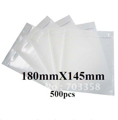 Free shipping 180x145mm transparent back self adhesive for Document pouch for shipping
