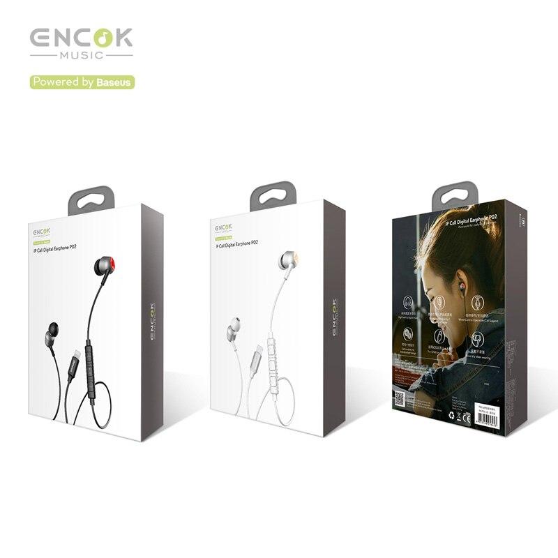 Baseus P02 Wired Earphone Stereo Bass Sound Headset In Ear Earphones With  Mic Earpiece For iPhone X 8 7 IOS 11 10 9 8 7 kulakl k-in Phone Earphones  ... 573c53a07baea