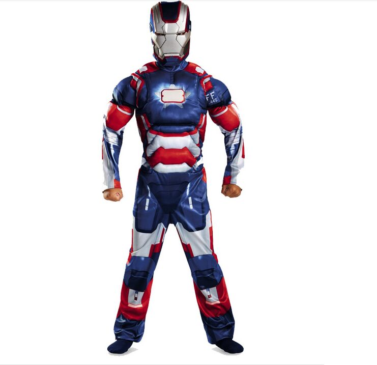 Child Kids Halloween Costume Iron Man Muscle  cosplay costume boys party supplies Fantasia Avengers Superhero halloween Outfit