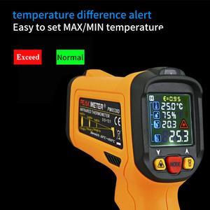Image 4 - PM6530D digitale laser infrarood thermometer hygrometer type K UV licht elektronische temperatuursensor vochtigheid meter pyrometer