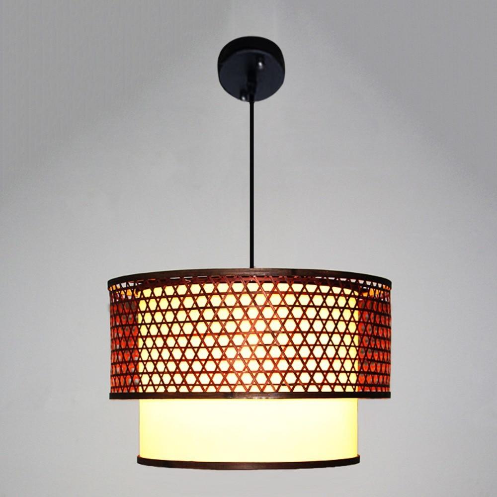 Aliexpress.com : Buy Luxury Art Decorative Pendant Light Bamboou0026PVC  Lampshade DIY Droplight For Cafe Teahouse LED Retro Pendant Lamp Decors  From Reliable ...