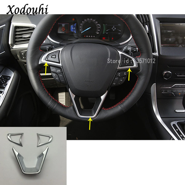 For Ford Edge  Car Body Cover Styling Steering Wheel Interior Kit Switch Trim Lamp Frame Molding Parts Pcs