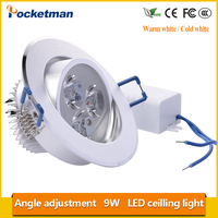 9W Led Downlight Foco Empotrable Led Ceiling Lamp Faretto Incasso Lampara Techo Plafoniera Spot Light Recessed