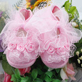 Hot Baby Girls Crib Shoes Lace Flower Infant Toddler Shoes Kids Princess Shoes 0-12M