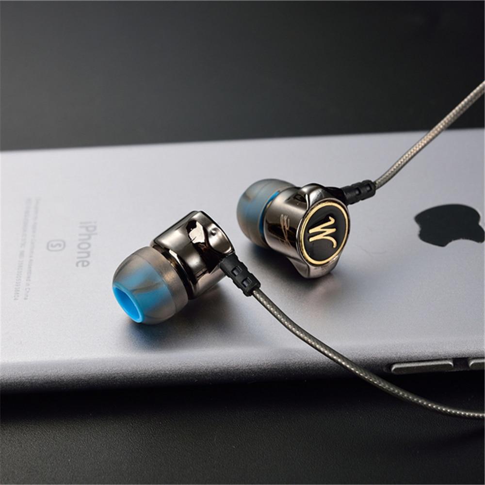 Hörlurar QKZ DM7 Special Edition Guldpläterade Hushålls Headset - Bärbar ljud och video - Foto 4