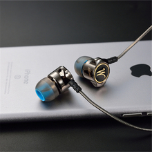 Earphones QKZ DM7 Special Edition Gold Plated Housing Headset