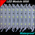20pcs/lot LED Modules SMD5050 LED module Waterproof IP67 DC12V 3leds Domestic lighting Red Blue Green white Yellow led lanterns