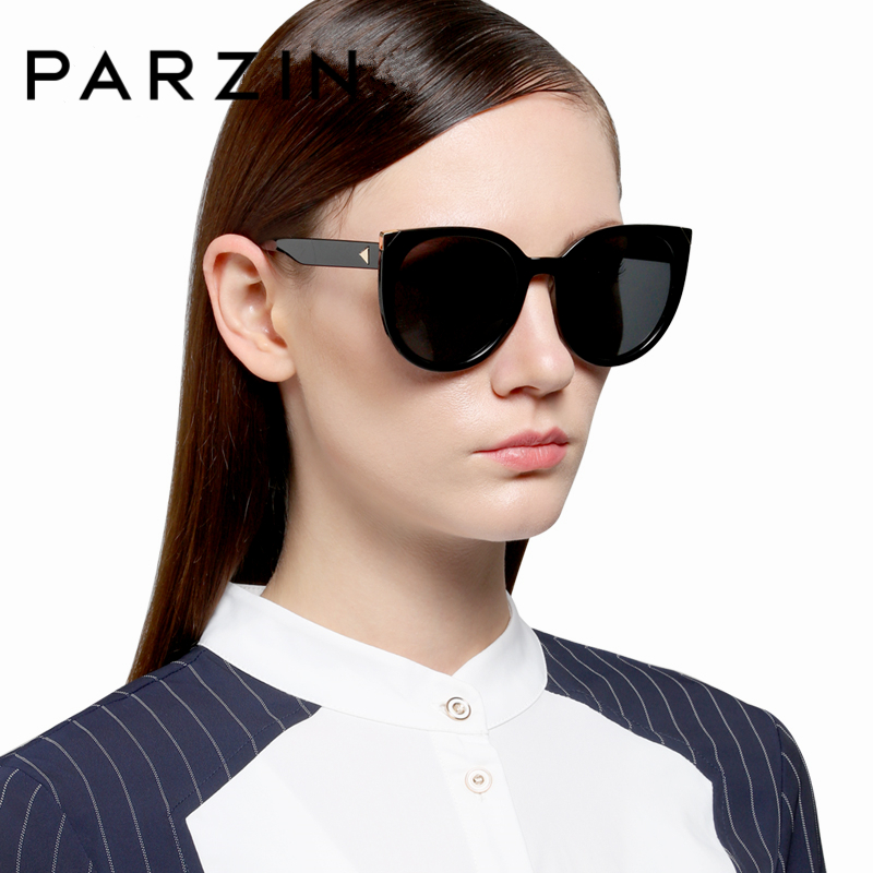 PARZIN Brand Butterfly Sluneční brýle pro ženy Big Frame Polarized Glass Driving Coating Mirror Summer Sun Brýle Accessories