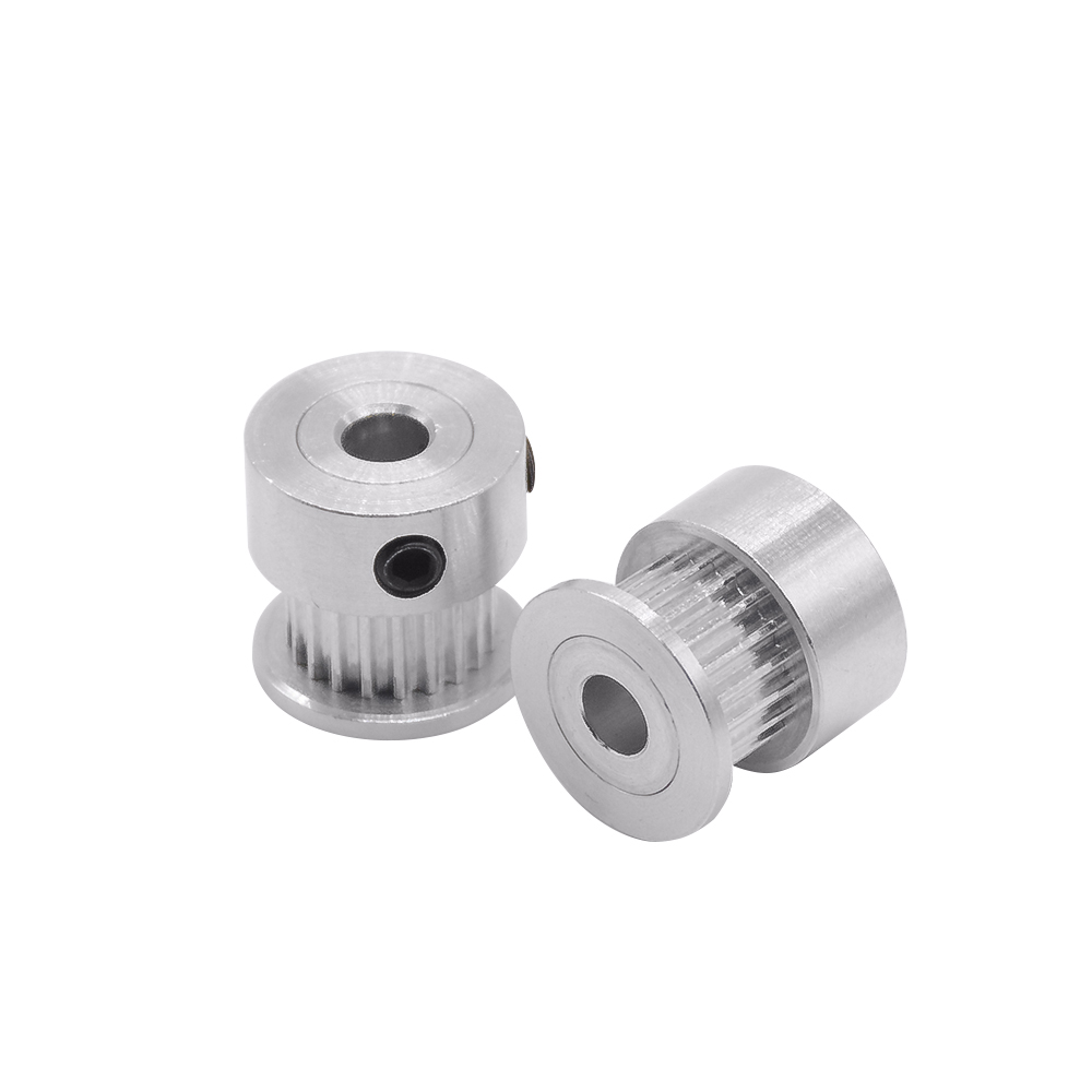 1pc GT2 alumium timing pulley 20teeth bore 5mm fit for GT2 belt width 6mm for CNC 3D printer powge 8pcs 20 teeth gt2 timing pulley bore 5mm 6mm 6 35mm 8mm 5meters width 6mm gt2 synchronous 2gt belt 2gt 20teeth 20t