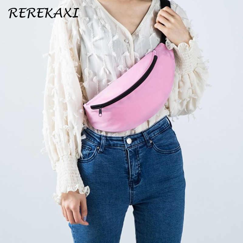 REREKAXI אופנה עמיד למים נשים של פאני חבילה פוליאסטר טיולי גברים מותן תיק בננה חגורת שקיות נסיעות חזה רצועת תיק