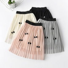 New Hot Summer Baby Girl Skirt Bowknot Decorate Children Kid Girls Tutu Knee-length Cute Clothes