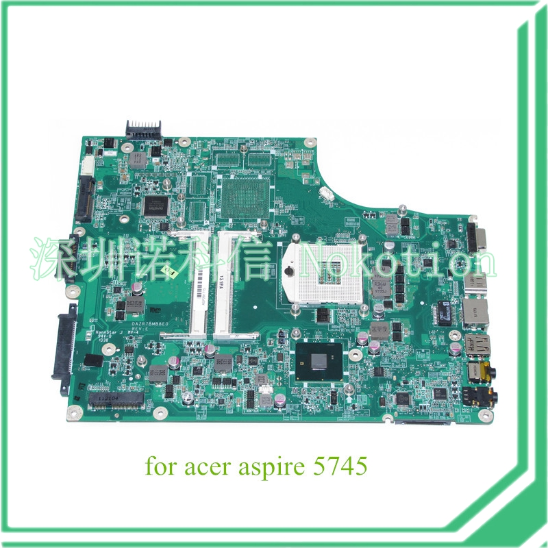 NOKOTION Laptop Motherboard FOR ACER Aspire 5820G 5820T 5820TZG MBPTG06001 DAZR7BMB8E0 31ZR7MB0000 HM55 DDR3 nokotion nbm1011002 48 4th03 021 laptop motherboard for acer aspire s3 s3 391 intel i5 2467m cpu ddr3