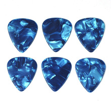 Lots of 100pcs Ultra Heavy 1.5mm Gauge Celluloid Guitar Bass Picks Plectrums Sky Blue Pearl