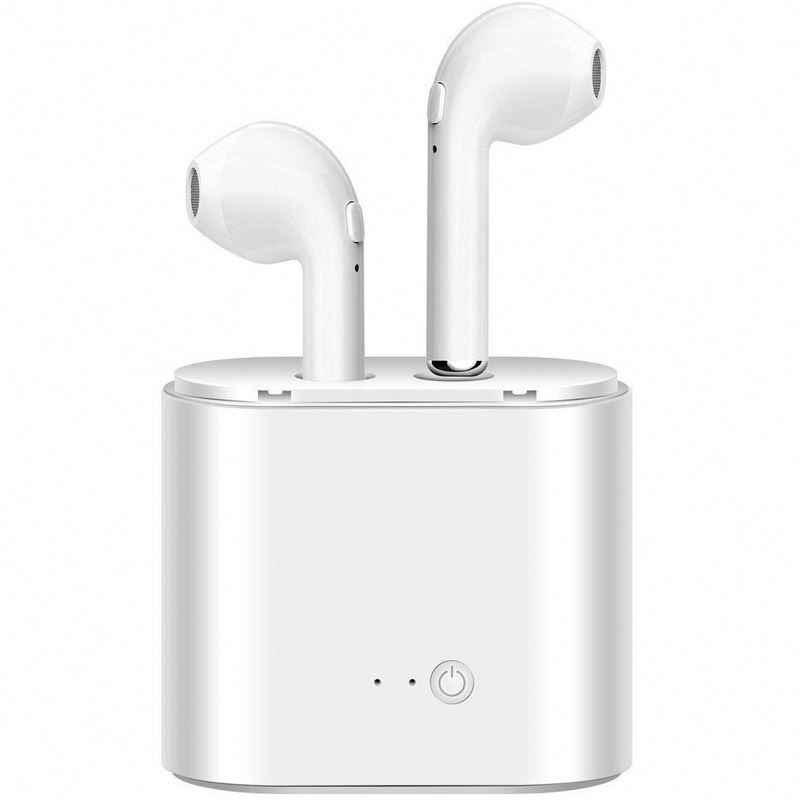 I7s TWS Мини Bluetooth наушники стерео вкладыши Беспроводные наушники с зарядным устройством микрофон для всех смартфонов PK i10s i12s