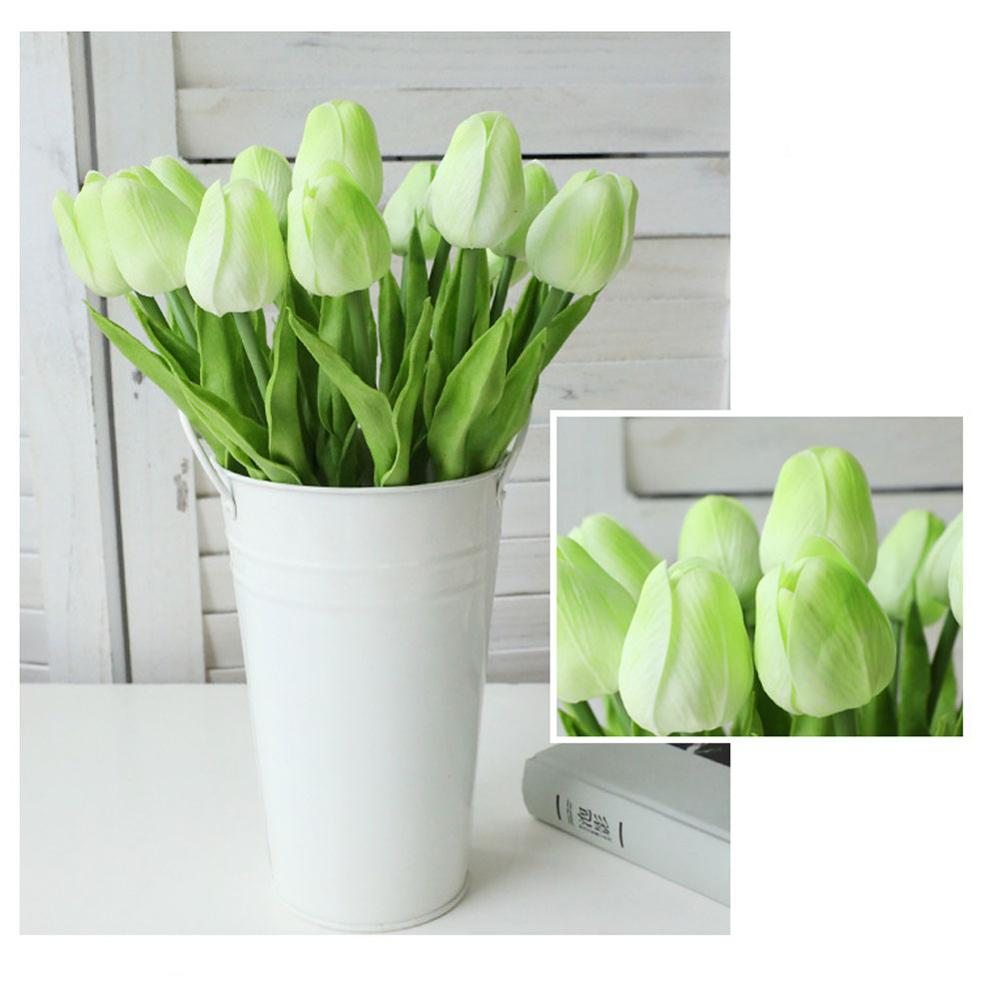 1 Pcs Beauty Real Touch Flowers Latex Tulips Flower Artificial Bouquet Fake Flower Bridal Bouquet Decorate Flowers For Wedding