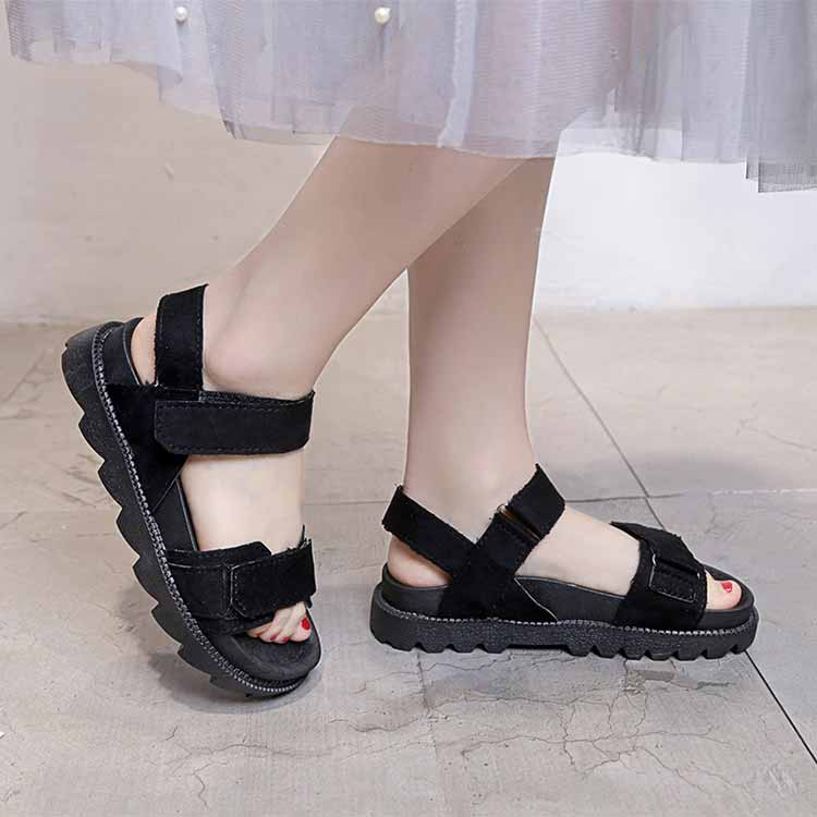 Women shoes adult solid sandals women 2019 fashion med heel height women sandals flat with casual shoes woman sandals female  (11)