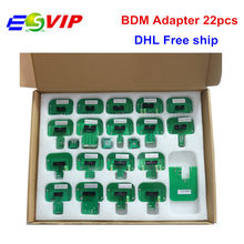 22pcs BDM adapters KTAG KESS KTM Dimsport BDM Probe Adapters Full Set LED BDM Frame ECU RAMP Adapters(China)