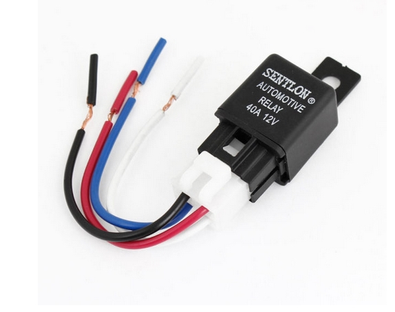 longyue 2pcs SPST 4 Pin way Relay Plastic Socket Harness Wire 40A 12V DC for Vehicle 4 pin relay harness wiring diagrams clicks