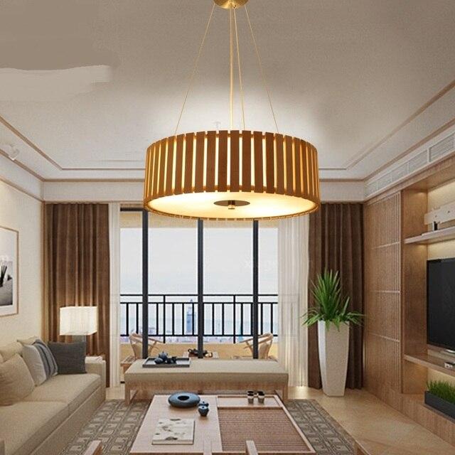 Creative Japonais en bois massif Pendentif Lumières salon hanglamp ...
