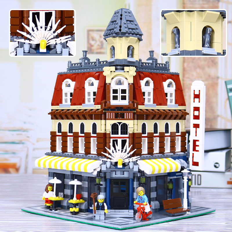 New Lepin 15002 2133Pcs Cafe Corner Model Building Kits Blocks Kid Toy Gift brinquedos Compatible With legoed 10182 Educational new lepin 16009 1151pcs queen anne s revenge pirates of the caribbean building blocks set compatible legoed with 4195 children