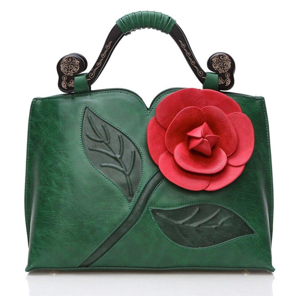 Big Rose Flower Bag Womens Handbags Luxury Ladies Women Bag Famous Brand Vintage Women Bags Female Tote with shoulder strap