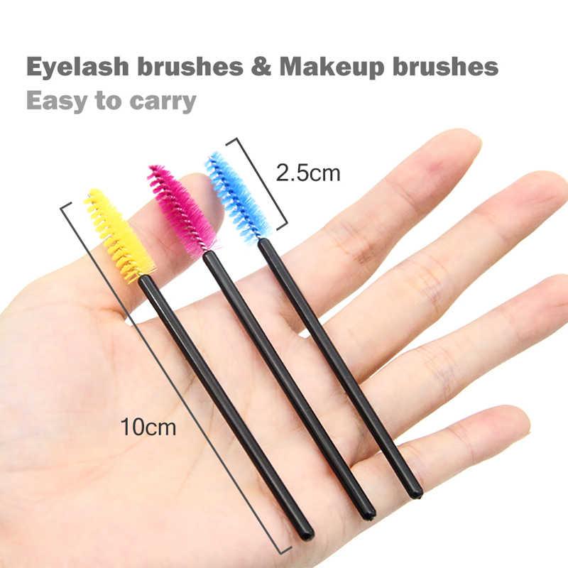 50 Pcs Bulu Mata Kuas Makeup Kuas Sekali Pakai Maskara Wands Aplikator Bulu Mata Kosmetik Kuas Maquiagem Cilio Alat Makeup