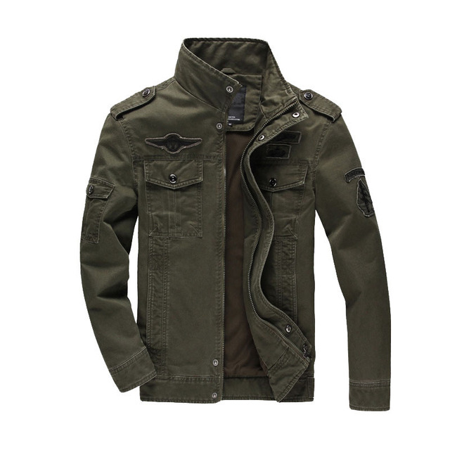 Military Men's Jackets Coat Winter Fashion Male Air Force Slim Fat Cotton Army Fleece Jacket Men Brand Clothing Outwear  BF8831