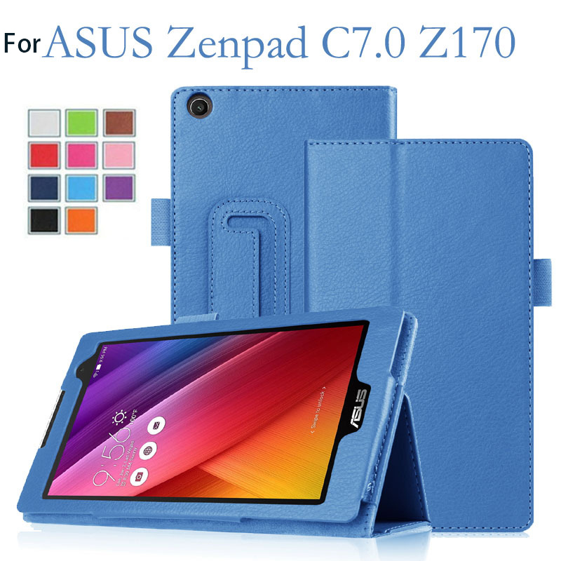 Pour Asus Zenpad C 7.0 Z170C Z170MG Z170CG Cas, Flip PU Cas Smart Cas de Stand pour Asus Zenpad Z170C Z170MG Tablet Funda Cas