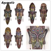 Tribal Mask Pendant African People Wall Hanging Ktv Bar Decoration Wall Deco Large 48cm Hotel Dark
