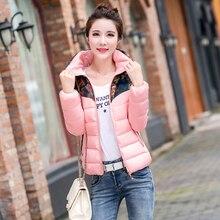 Корейский новинка женщин зимняя куртка элегантный печатные толстый теплый хлопок пуховик тонкий большой ярдов отдыха женская пальто G0654
