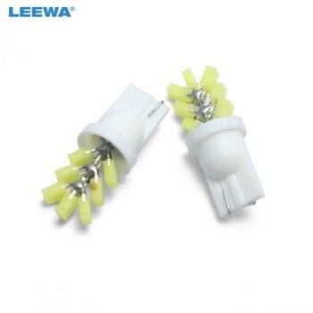 LEEWA 200pcs White Car T10 194 W5W COB 7SMD Auto LED Lights Tree Shapes Car Side Wedge Clearance Reading Light Lamp  #CA4607Y