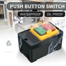 10A 220/380 V KAO-5 Водонепроницаемая нажимная кнопка переключатель для машины для очистки автомобиля 10A переключатели управление толчок для улучшения домашнего освещения