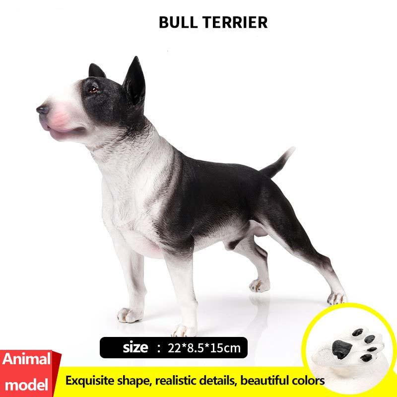 New bull terrier Shiba Inu dog model toy ornaments Collection Model Toys Action Figure creative sled dog bulldog model pinata toys pet dog piggy bank bull terrier akita dogs siberian husky dogs save money tank model