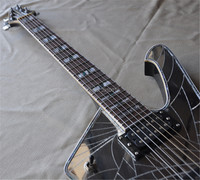 2018newHot Sale Custom Electric Guitar,Chrome Hardware,can be Customized,Cracked Mirror Surface Body,Choi bei serging