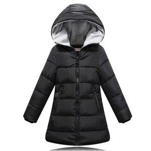 Image 2 - Весна Зима 2020, куртка для девочек, одежда детское пальто с хлопковой подкладкой и капюшоном детская одежда парки для девочек enfant, куртки и пальто