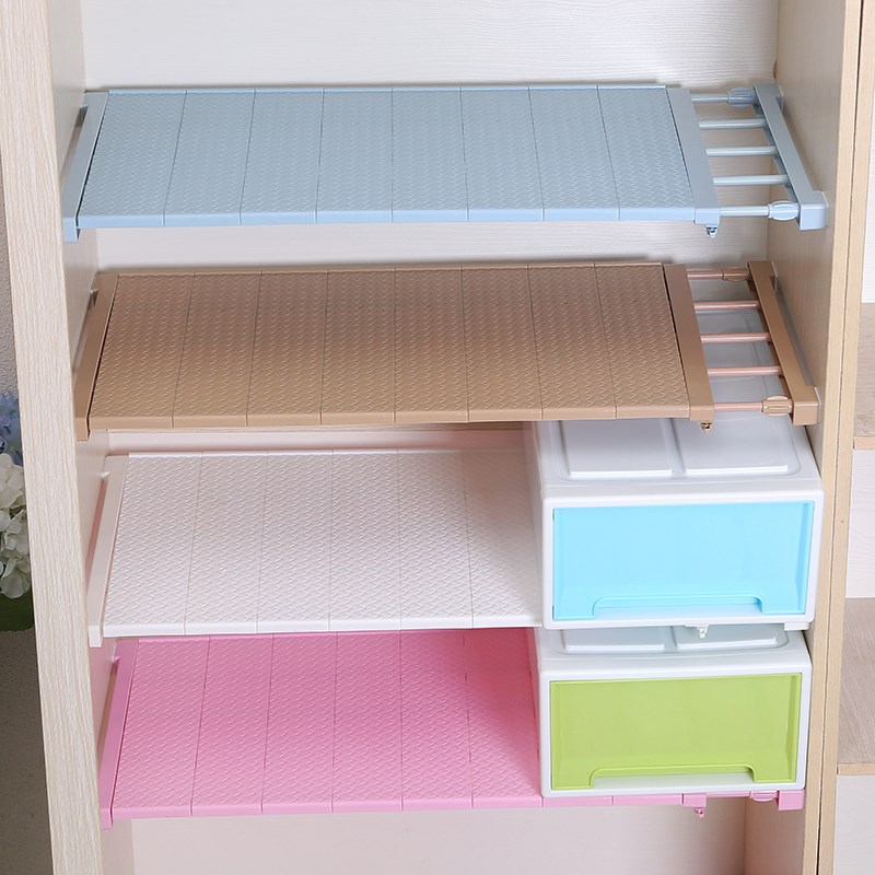 Adjustable Closet Organizer Shelf Wall Mounted Kitchen Rack Space Saving Wardrobe Decorative Shelves Cabinet Holders  lo1212214