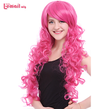 L email wig Brand New 80cm Pink Cosplay Wigs Little Pony Heat Resistant Synthetic Hair Perucas Cosplay Wig