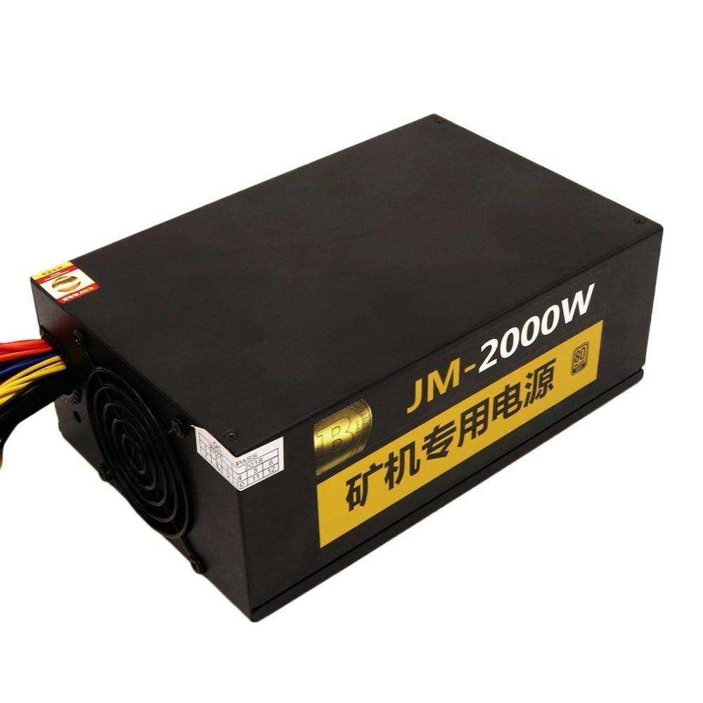 Profesional 2000 W minería alimentación ATX SATA IDE 8 GPU ETH BTC ...