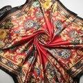 90 cm * 90 cm Invierno caliente de América y Europa Caramelo cabeza invierno bufanda de las mujeres chales y bufandas de india señoras bufandas femeninas