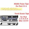 5 set/lot de alta quaity para ipad 2/3/4 air 5 6 3 m adhesivo etiqueta engomada del pegamento tira de cinta para la pantalla táctil ipad mini 1 2 3 4 digitalizador