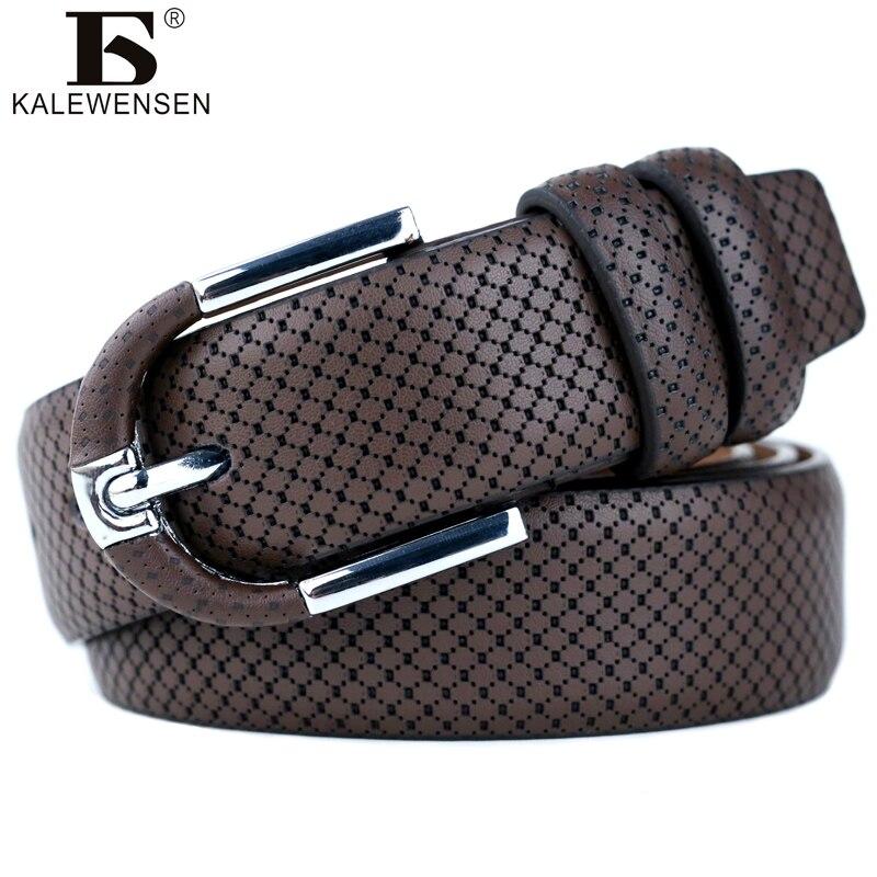 Männer fashion100 % Echtes Leder gürtel für männer Hohe qualität metall pin schnalle männlich Jeans cowboy relief strap LJ014