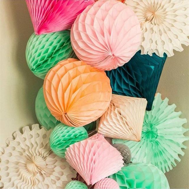 Wholesale Paper Honeycomb Ball Flower Lantern Wedding Kid Birthday Decoration Baby Shower Balls Lanterns Decorative