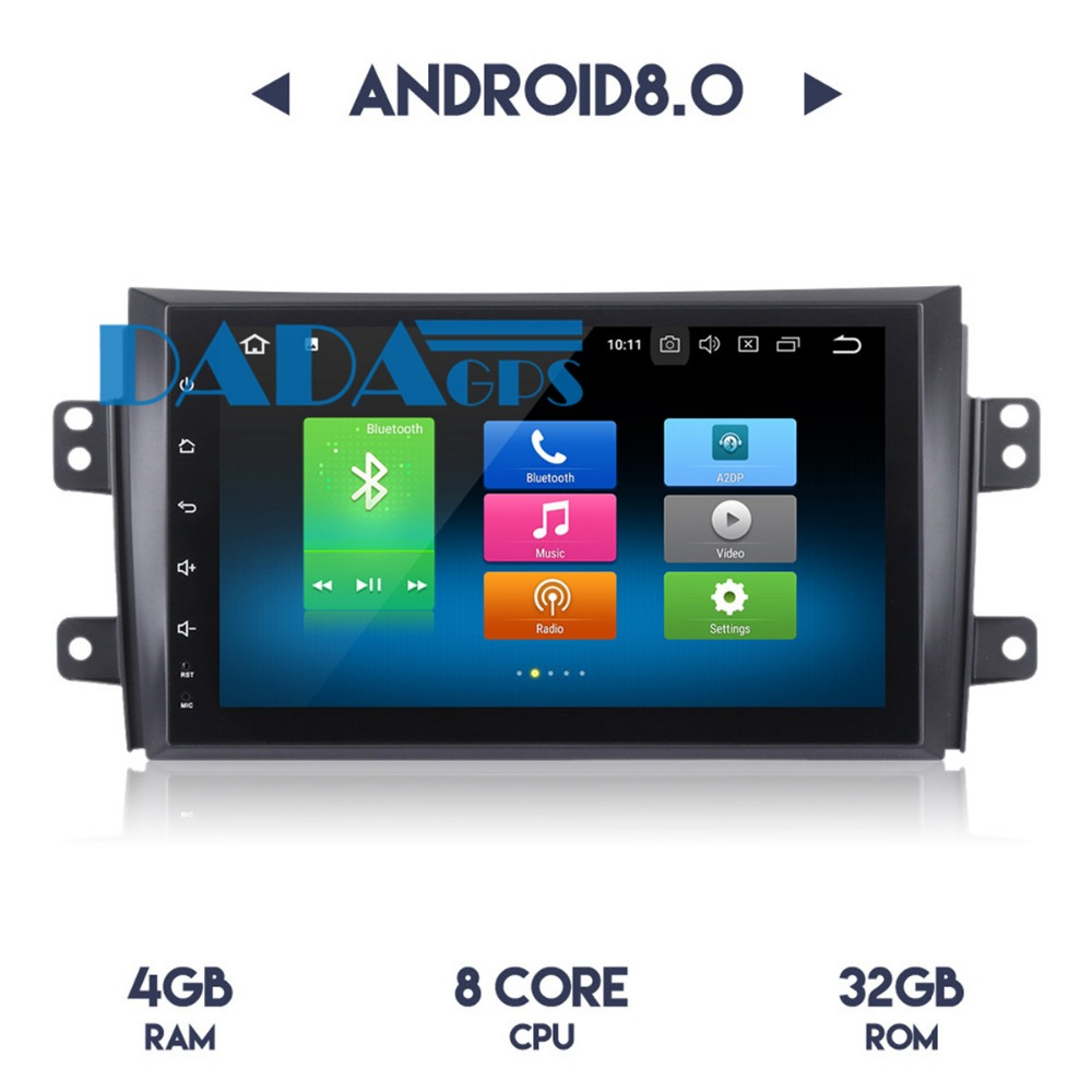 Android 8.0 7.1 <font><b>Car</b></font> <font><b>Radio</b></font> GPS Navigation Headunit For <font><b>SUZUKI</b></font> <font><b>SX4</b></font> 2006-2010 <font><b>Radio</b></font> no <font><b>Car</b></font> DVD Player Stereo <font><b>Multimedia</b></font> Audio Video image