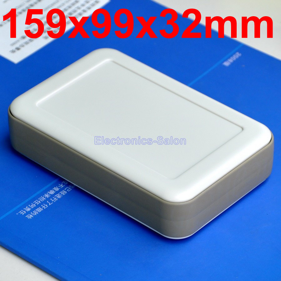 HQ Hand-Held Project Enclosure Box Case,White-Gray, 159 X 99 X 32mm.