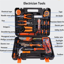 Electrical Toolbox Manually Household Tool kit Wrench font b Screwdriver b font Multimeter Soldering Iron Sets