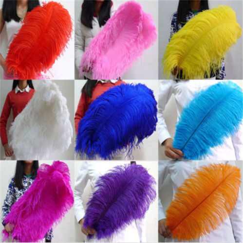 Wholesale beautiful ostrich feathers 100 pcs length 16 18inches 40 45cm variety of colors optional DIY