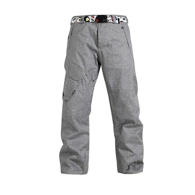 7a654905a4f1f Nouveau GSOU neige vert menthe snowboard pantalon chaud hommes ski pantalon  hommes neige pantalon d