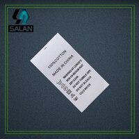 Пользовательские Синтетическая лента печатные теги Вышивание тег для ухода за одеждой этикетки ткань стирки теги